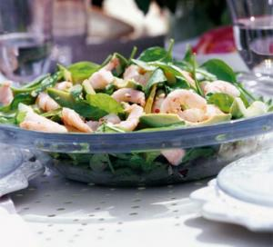 Image for Spinach, Avocado & Prawn Salad